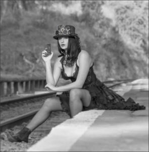 IC-3STAR-001-1148346-Steampunk Waiting for the next train-Louis Helberg